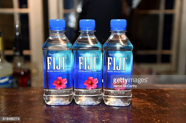 Fiji Water on display at an intimate inductee conversation hosted By John Varvatos presented by Klipsch Audio on April 6 2016 in New York City