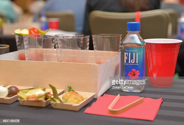 Fiji water on display at Bank Of America Lifestyle Seminar Exploring the Bloody Mary hosted by Francesco Lafranconi during the 2015 Food Network...
