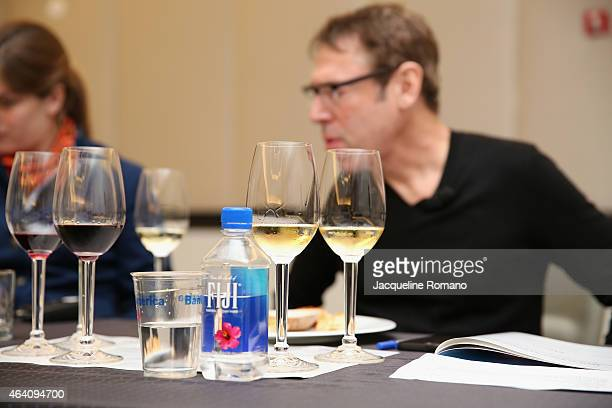 Fiji water on display at the Bank of America Lifestyle Seminar Puffed and Stuffed An Empanada Seminar hosted by Bunbury's Paula Costa and Josh Wesson...