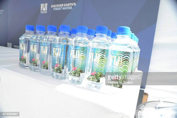 Fiji Water on display at Wine Spectator's Trade Day during Food Network South Beach Wine Food Festival at Grand Tasting Village on February 21 2014...