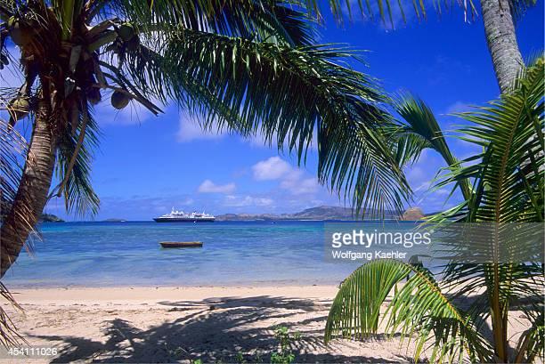 Fiji Yasawa Group Sawailau Island Expedition Cruise Ship M/s World Discoverer Coconut Palm Trees