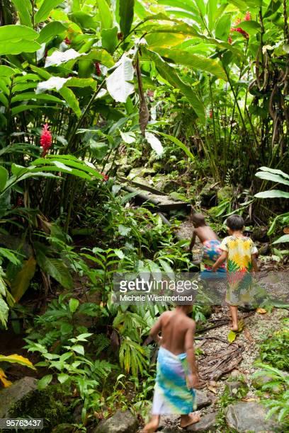 Fijian Children Hiking