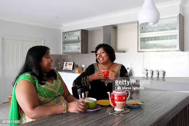 Fijian Indian Shalini Pratap has tea with her niece Priya Kumar at her home on January 27 2017 in Tamworth Australia Tamworth is a large regional...