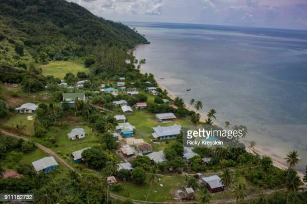 fijian village - fiji stock pictures, royalty-free photos & images