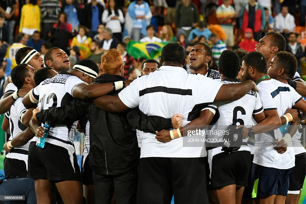 RUGBY7-OLY-2016-RIO-FIJ-GBR : News Photo
