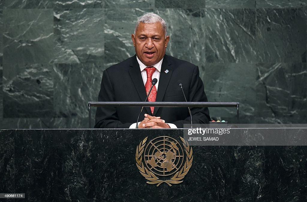 UN-GENERAL ASSEMBLY-FIJI : News Photo