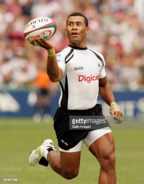 Fiji's Waisale Serevi scores the final try during the Cathay Pacific/Credit Suisse Hong Kong Rugby Sevens 2007 semifinal match between New Zealand...