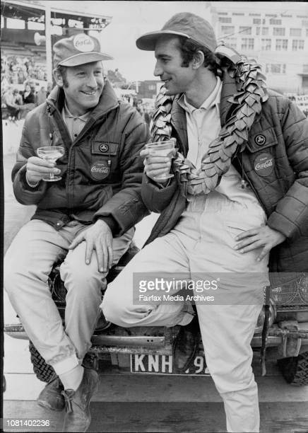 Fijish of Ampol Car TrialCrew of Car 23 a Datsun 1600 SSS left to right Edgar Herrmann driver and Hans Schuller navigator which finished with a loss...