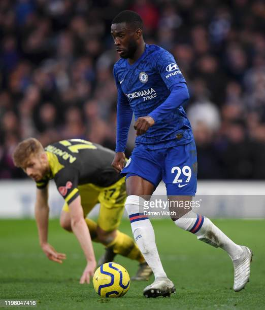 Fikayo Tomori of Chelsea runs with the ball during the Premier League match between Chelsea FC and Southampton FC at Stamford Bridge on December 26...