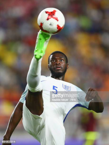 Fikayo Tomori of England clears the ball during the FIFA U20 World Cup Korea Republic 2017 Final between Venezuela and England at Suwon World Cup...