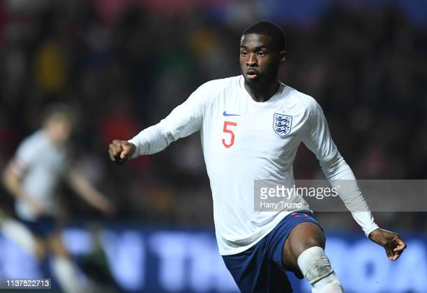 Fikayo Tomori of England during the U21 International Friendly match between England and Poland at Ashton Gate on March 21 2019 in Bristol England
