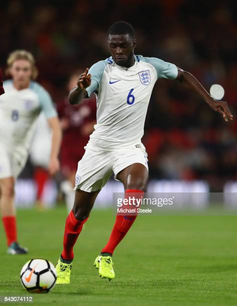 Fikayo Tomori of England U21's during the UEFA Under 21 Championship Qualifier match between England and Latvia at the Vitality Stadium on September...