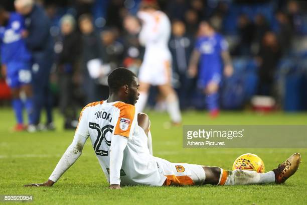 Fikayo Tomori of Hull City looks dejected after the final whistle of the Sky Bet Championship match between Cardiff City and Hull City at the Cardiff...