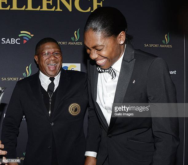 Fikile Mbalula and Caster Semenya during the SA Sports Awards on November 27 2016 in Bloemfontein South Africa The 2016 SA Sport Awards recognise...