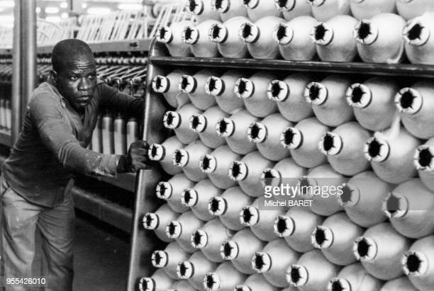 Filature de coton de la Société la Cotonnière Ivoirienne à Agboville Côte dIvoire