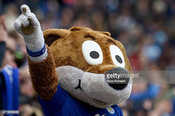 Filbert Fox the Leicester City mascot during the Barclays Premier League match between Leicester City and Newcastle United at The King Power Stadium...