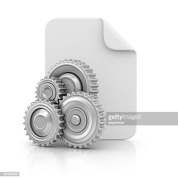 file and gears