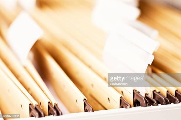 Aktenschrank Nahaufnahme Papierkram organistion