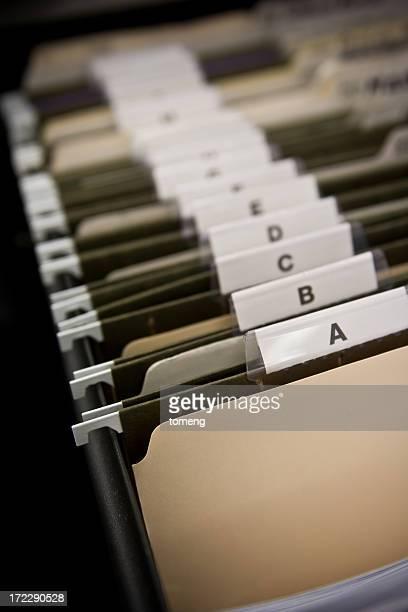 Aktenschrank Schublade Ordner mit Aufschrift