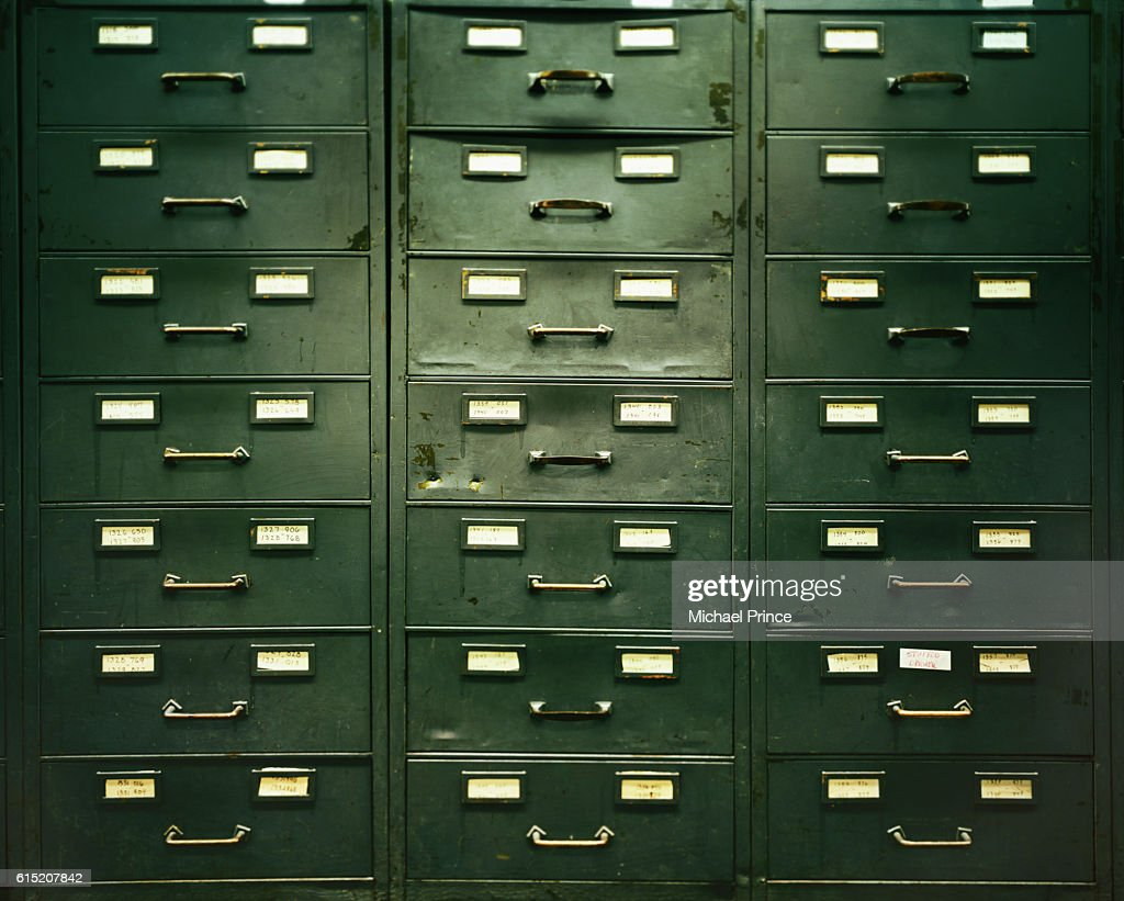 File Cabinet Drawers : Stock Photo