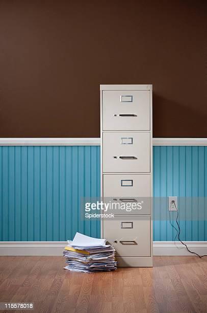 File Cabinet In Empty DomesticRoom