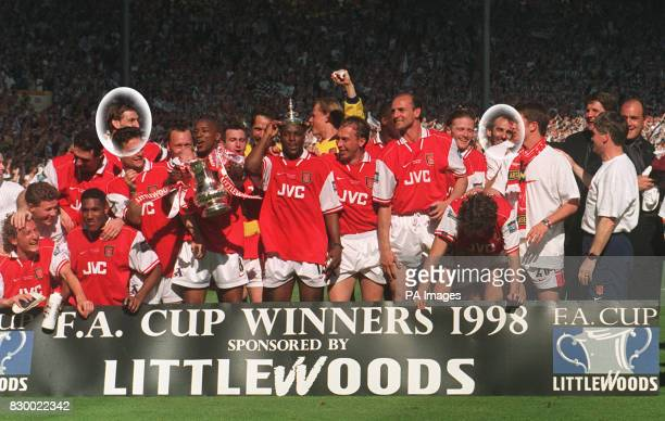 File dated 16598 of the Arsenal team celebrating after beating Newcastle in the FA Cup final Steve Jacobs personal counsellor to Arsenal captain Tony...