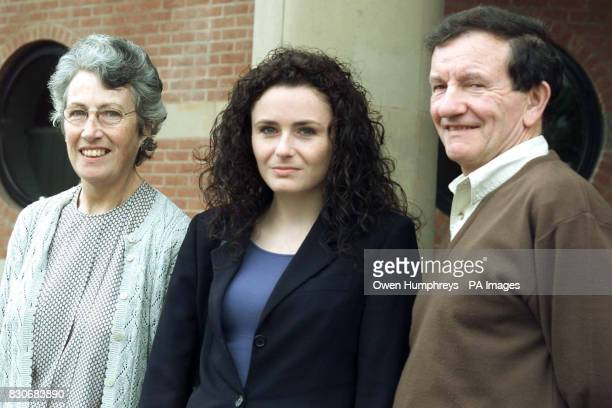 File dated 7/8/01 of Joanne Kellett with her parents Mr and Mrs Kellett outside Teesside Crown Court 68yearold retired Open University lecturer James...