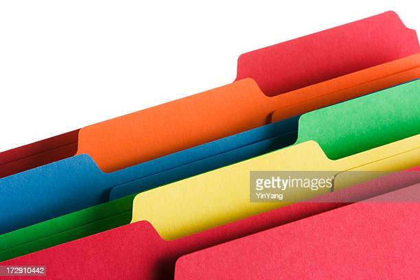 File Folders and Document Office Supply organized in Muti Color