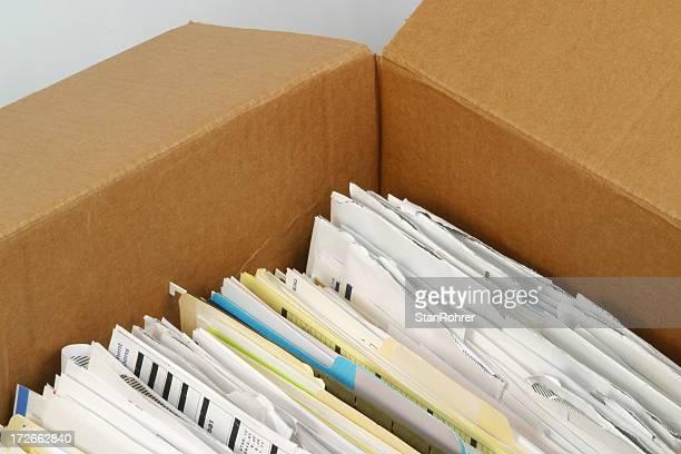 Netzwerkordnern gespeichert sind In einer Box Dokument Akten