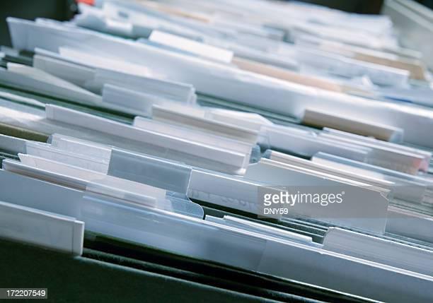As pastas de ficheiros do arquivo