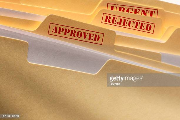 file folders - dismissal stock photos and pictures