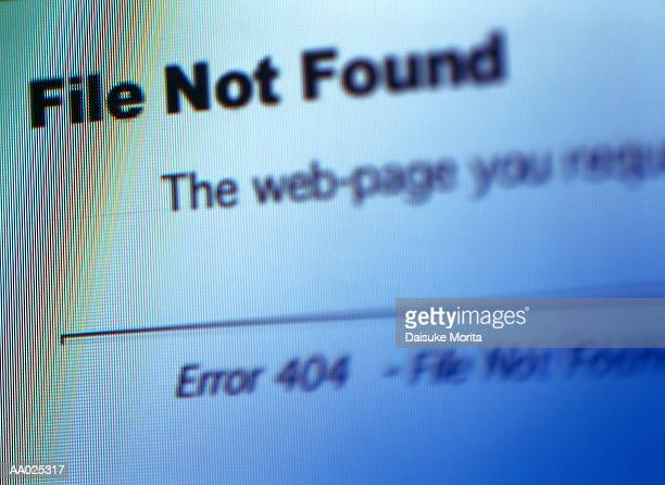 file not found on the world wide web - foutmelding stockfoto's en -beelden