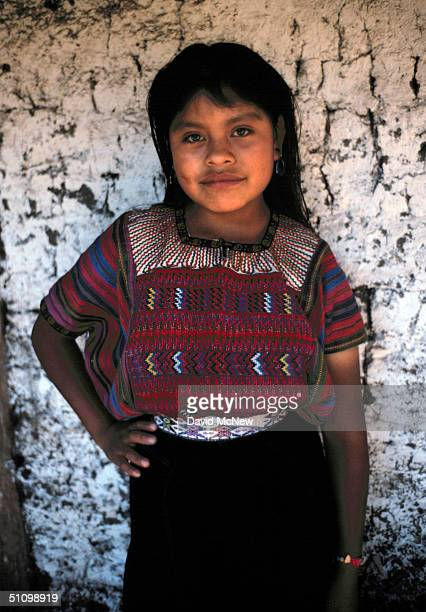 A Mayan Indian Girl Watches The Photographer At Her Home In Todos Santos Cuchumatan In The Cuchumatan Mountains Of Guatemala In 1992 The People Of...