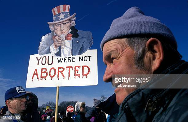 Antiabortion demonstrators gather outside the White House to rally in the March for Life on the eve of the 21st anniversary of Roe v Wade Photo by...