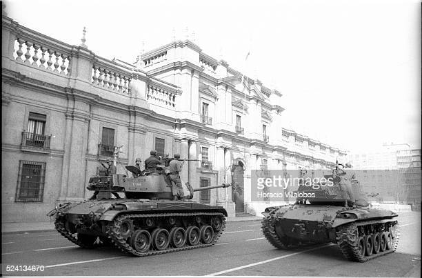 At ten in the morning the tanks arrived in front of La Moneda and the shooting continued in the aftermath of the coup d'etat led by Commander of the...