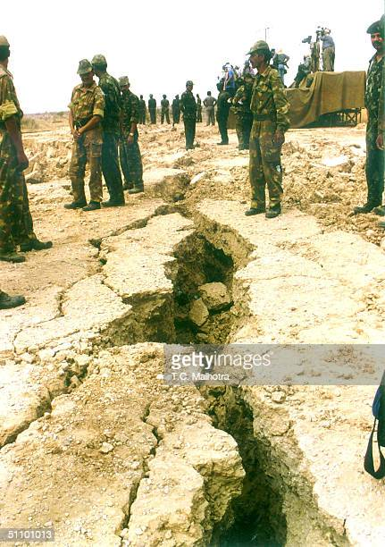 Cracks On The Earth In Rajasthan State Due To Nuclear Tests By India In May 1998