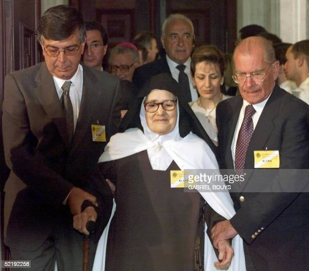 File photo dated 13 May 2000 shows Sister Lucie after her audience with Pope JeanPaul II at Fatima The last survivor of three shepherd children who...