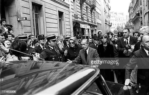 File photo dated 20 september 1977 of Italian baritone Tito Gobbi Princess Grace of Monaco and her daughter Caroline as they leave the Greek Orthodox...