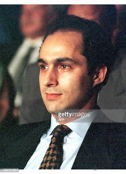 File photo dated 21 October 1996 shows Egyptian President Mubarak's eldest son Gamal Gamal and his younger brother Alaa are suing the Saudi magazine...