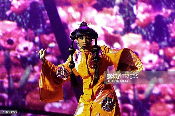 File photo dated 23 February 2000 shows Lisa Left Eye Lopes of the group TLC performing at the 42d Annual Grammy Award in Los Angeles That night TLC...