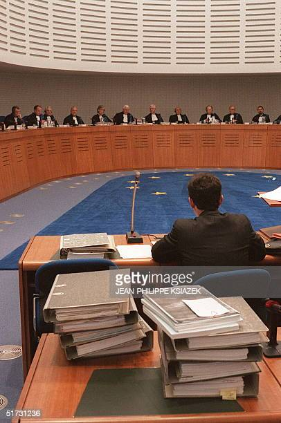 File photo dated 23 January 1995 of a partial view of the European Court for Human Rights in Strasbourg Photo datTe du 23 janvier 1995 d'une vue...