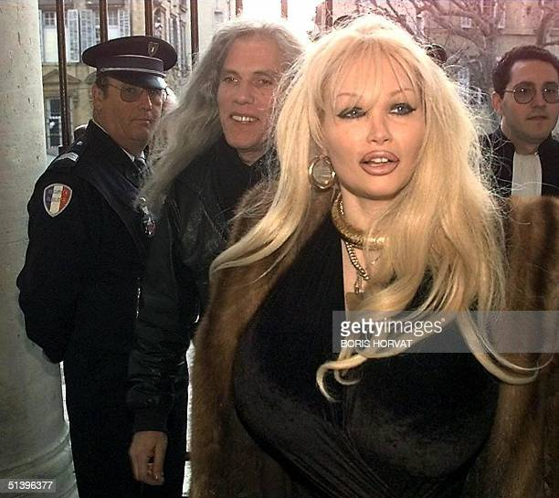 File photo dated 23 January 1998 of late Lolo Ferrari the porn star who died three months ago of an overdose of medicated drugs Her husband Eric...