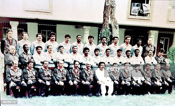 File photo dated 28 May 1982 shows the kuwaiti national soccer team posing for a group picture prior to World Cup Group D first round matches in...