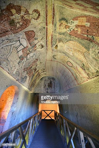 File photo dated 30/9/2014 shows the Dark Church at the Goreme OpenAir Museum in Cappadocia a historical region in Central Anatolia in Nevsehir...