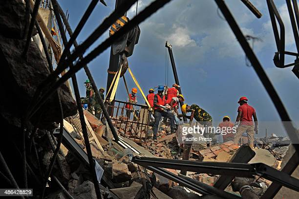 File photo dated April 29 where Rana Plaza an eightstory commercial building collapsed in Savar a subdistrict in the Greater Dhaka Area the capital...