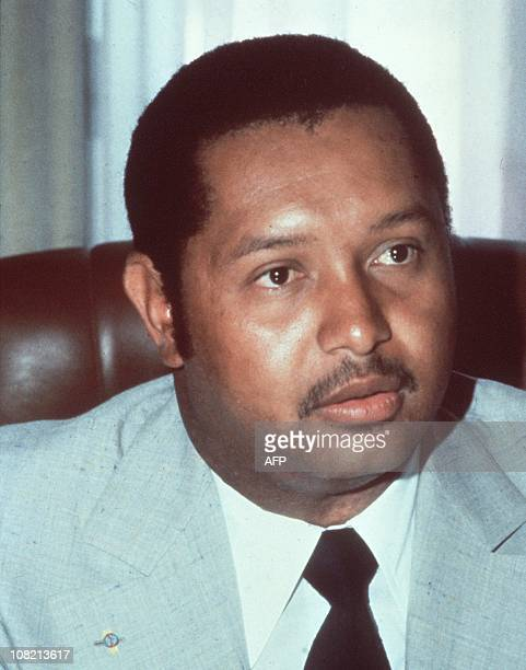 File photo dated March 1982 of Jean-Claude Duvalier, former president of Haiti.