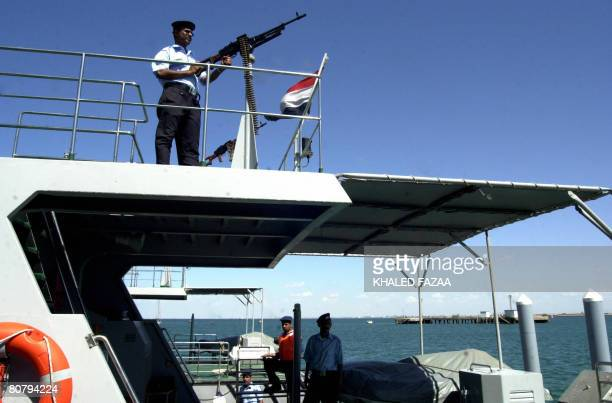 A File photo dated May 01 2006 shows Yemeni coast guards patrolling the Gulf of Aden to prevent piracy and illegal smuggling in Yemeni waters as a...