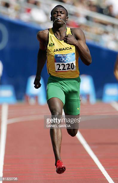File photo dated on August 24 2008 shows Jamaica's Usain Bolt competing in the men's 200m round 1 during the Olympic Games in Athens Jamaica's Usain...