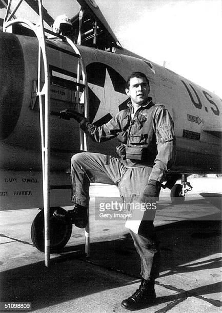 George W Bush During His Service Days In The Texas Air National Guard Circa 1970