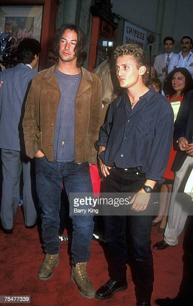 1991 file photo Keanu Reeves Alex Winter at Bill Teds Excellent Adventure premiere at the Directors Guild of America Theater in Hollywood California